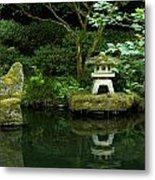 Japanese Garden Calmness Metal Print