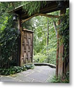 Japanese Garden Gate  Metal Print