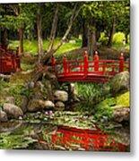 Japanese Garden - Meditation Metal Print by Mike Savad