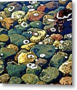 Japanese Garden Pool Rocks Metal Print