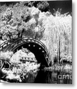 Japanese Gardens And Bridge Metal Print