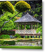 Japanese Gazebo Metal Print