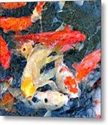 Japanese Koi Pond Metal Print