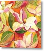 Japanese Magnolia Metal Print