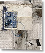 Japanese Postage 20 Sen Metal Print by Carol Leigh