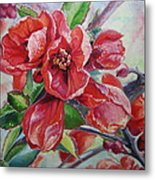 Japanese Quince In Blossom Metal Print