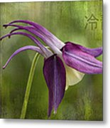 Japanese Serenity Columbine Blossom Metal Print