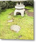 Japanese Stone Lantern Hamilton Gardens New Zealand Metal Print by Colin and Linda McKie