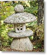 Japanese Stone Lantern Metal Print