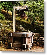 Japanese Tea Garden Well Metal Print