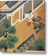 Japanese Warrior And Noble Metal Print