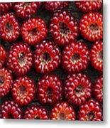 Japanese Wineberry Pattern Metal Print