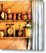 Jars - Kitchen Shelves Metal Print by Mike Savad