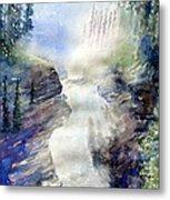 Jasper Athabasca Falls Metal Print