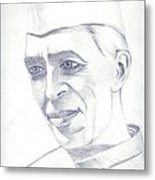 Jawaharlal Nehru Metal Print