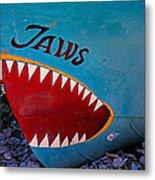 Jaws Boat Bow Metal Print