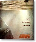 Jaws Custom Poster Metal Print by Jeff Bell