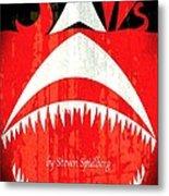 Jaws Minimalist Poster  Metal Print