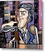 Jay Leno You Been Cubed Metal Print