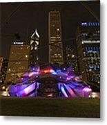 Jay Pritzker Pavilion Chicago Metal Print by Adam Romanowicz