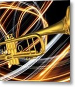 Jazz Art Trumpet Metal Print