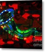 Jazz At Midnight Metal Print