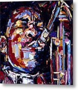 Jazz Face series John Coltrane Metal Print