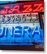 Jazz Funeral And Lamp Nola Metal Print