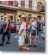 Jazz Funeral...the Second Line 4 Metal Print