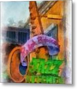 Jazz Kitchen Signage Downtown Disneyland Photo Art 01 Metal Print