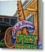 Jazz Kitchen Signage Downtown Disneyland Metal Print