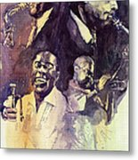 Jazz Legends Parker Gillespie Armstrong  Metal Print