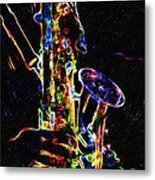 Jazz Lights Metal Print