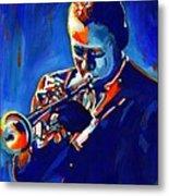 Jazz Man Miles Davis Metal Print