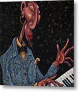 Jazz Man Metal Print by Ned Shuchter