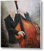 Jazz Player Metal Print