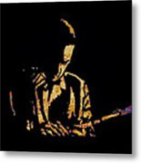 Jazz Player From New Orleans Metal Print