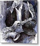 Jazz Saxophonist John Coltrane Black Metal Print