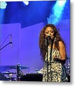 Jazz Singer Metal Print by Achmad Bachtiar