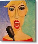 Jazz Singer Metal Print