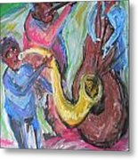 Jazz Trio Preservation Hall Metal Print by Made by Marley