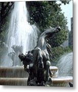 J.c.nichols Fountain 1 Kc.mo Metal Print