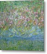 je t'aime Monet Metal Print