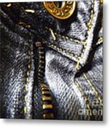 Jeans - Abstract Metal Print