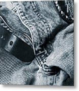 Jeans And Denim In Blue Metal Print