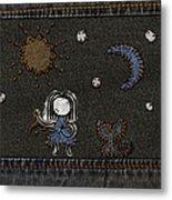 Jeans Stitches Metal Print