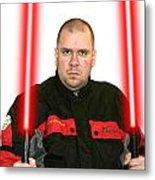 Jedi Master Randall M Rueff And Lightsaber Thirty Five Metal Print