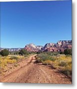 Jeep Trail Metal Print