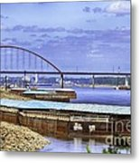 Jefferson Barracks Bridge A View From Cliff Cave Metal Print