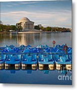 Jefferson Memorial And Paddle Boats Metal Print